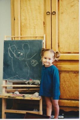 Ma fille, Danaë, à l'âge de 3 ans.